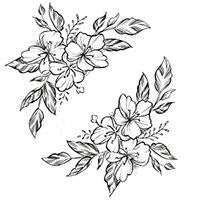 flowers underboob tattoo design reference