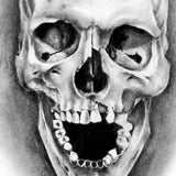selection of amazing skull tattoo references in black and grey style