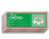 "Merry Christmas ""English"" - Tattoo Gift Vouchers"