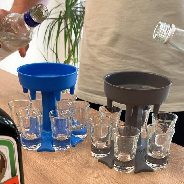 6 Shot Glass Dispenser--Drinking Games Shot Glasses Get The Party Started Faster!