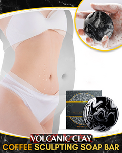 Volcanic Clay Coffee Sculpting Soap Bar as Slimming Soap