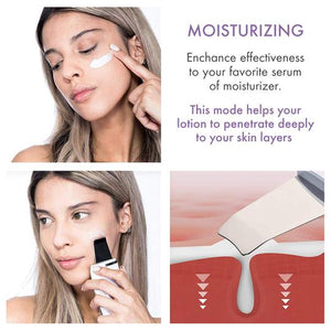 ULTRASONIC SKIN SCRUBBER FACIAL SPATULA FULL KIT