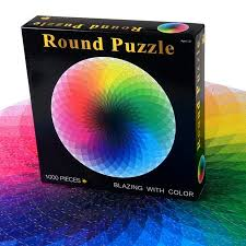 1000 Pieces Round Colorful Jigsaw Puzzle