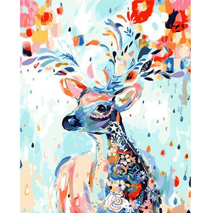 "Deer & Flowers Paint By Numbers 16"" x 20"""
