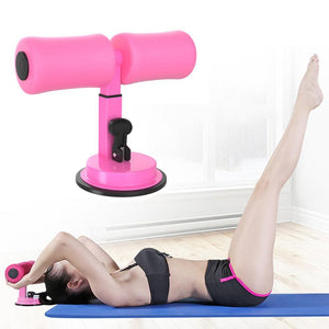 Floor Suction Sit Up Bar - Adjustable Height