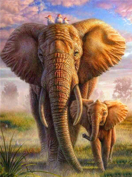 Magical Elephants 5D Diamond DIY Painting Kit