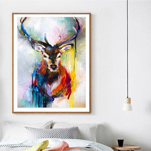 "Stag in Color Paint By Numbers 16"" x 20"""