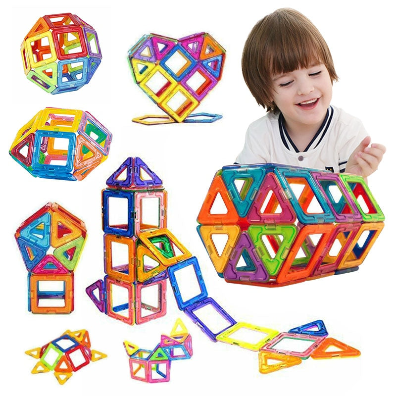 50 Pcs Magnetic Building Tiles Blocks