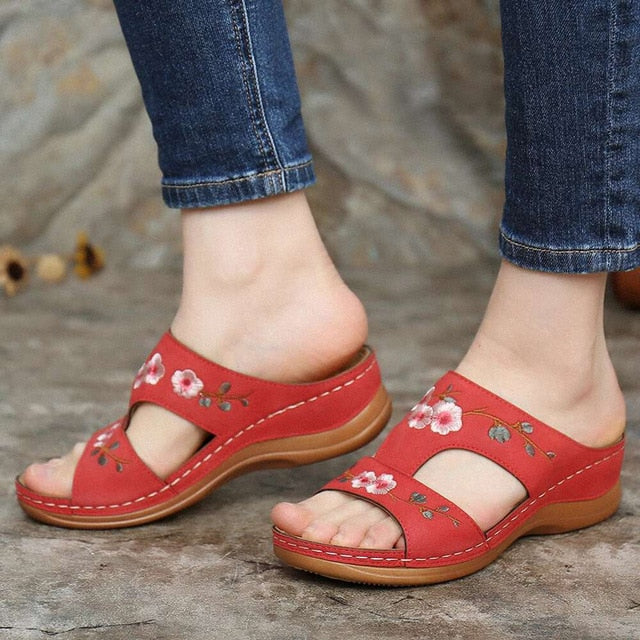 Bohemian style fashion non-slip wedge sandals
