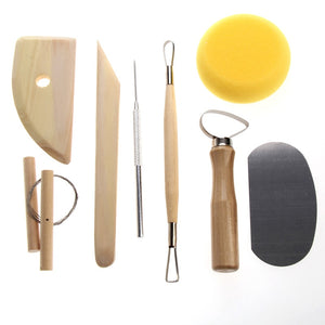 8 Piece Pottery & Clay Modelling Tool Sculpture Set