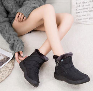Women Low Cut Waterproof Winter Soft Snow Boot
