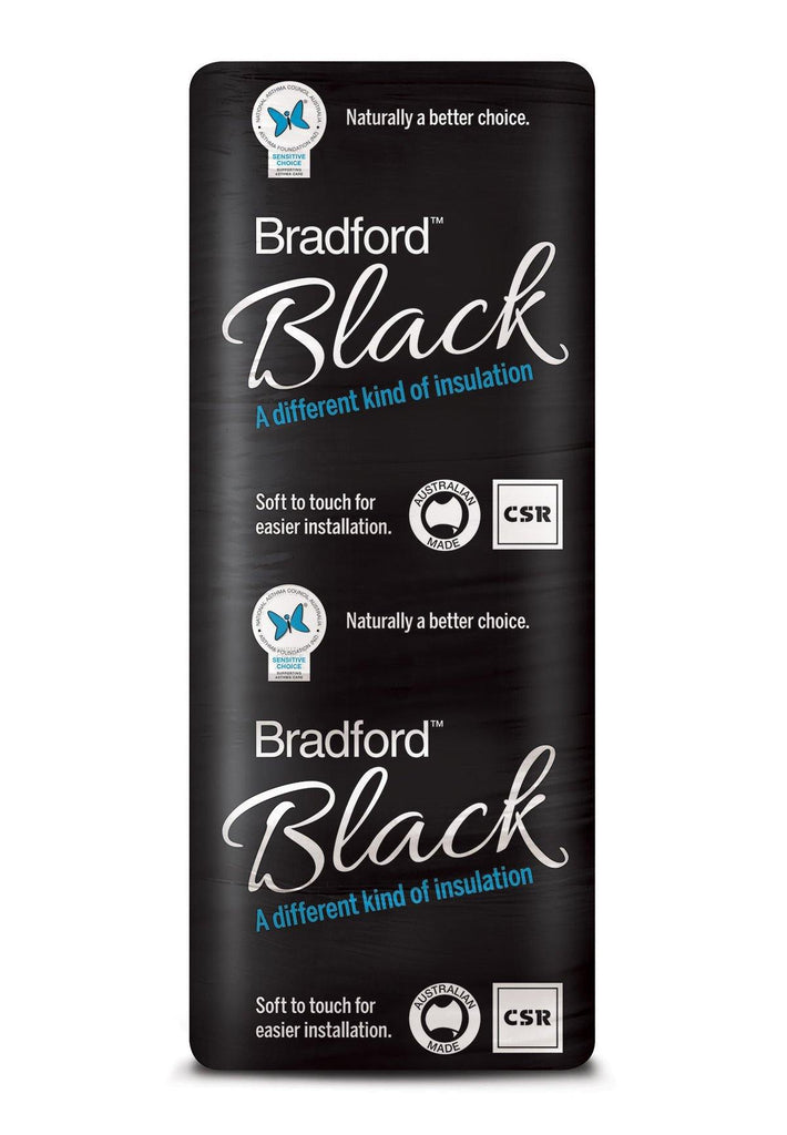 Bradford Black Ceiling Insulation Batts - R5.0 - 1160 x 580mm - 5.4m²/pack - Insulfix
