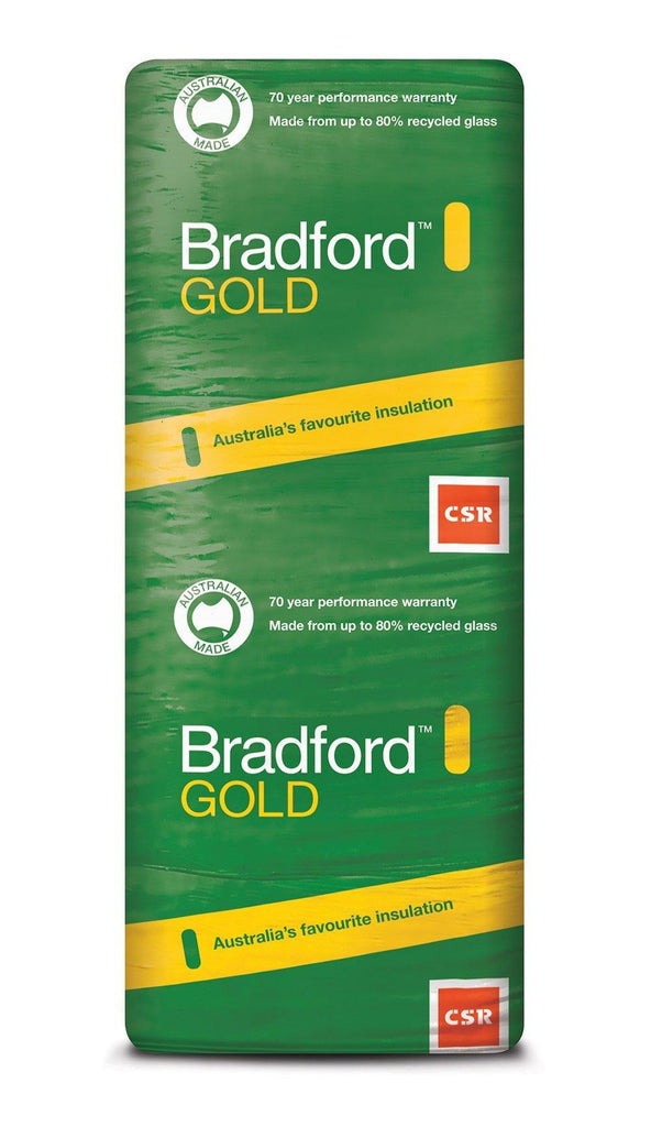 Bradford Gold Wall Insulation Batts - R1.5 - 1160 x 580mm - 14.8m²/pack - Insulfix