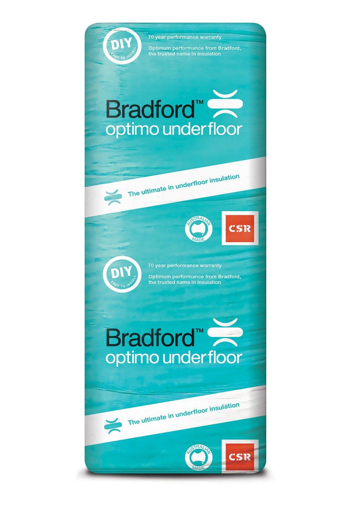 Bradford Optimo Underfloor Insulation Batts - R2.5 - 1160 x 415mm - 3.9m²/pack - Insulfix
