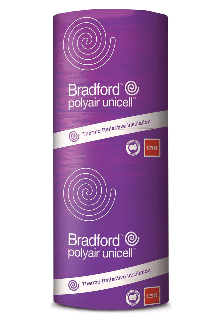 Bradford Polyair Unicell Shed Insulation - 1500mm x 25m - 37.5m²/pack - Insulfix