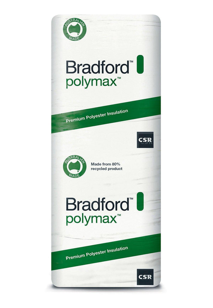 Bradford Polymax Wall Insulation Batts - R2.5 - 1160 x 580mm - 5.4m²/pack - Insulfix