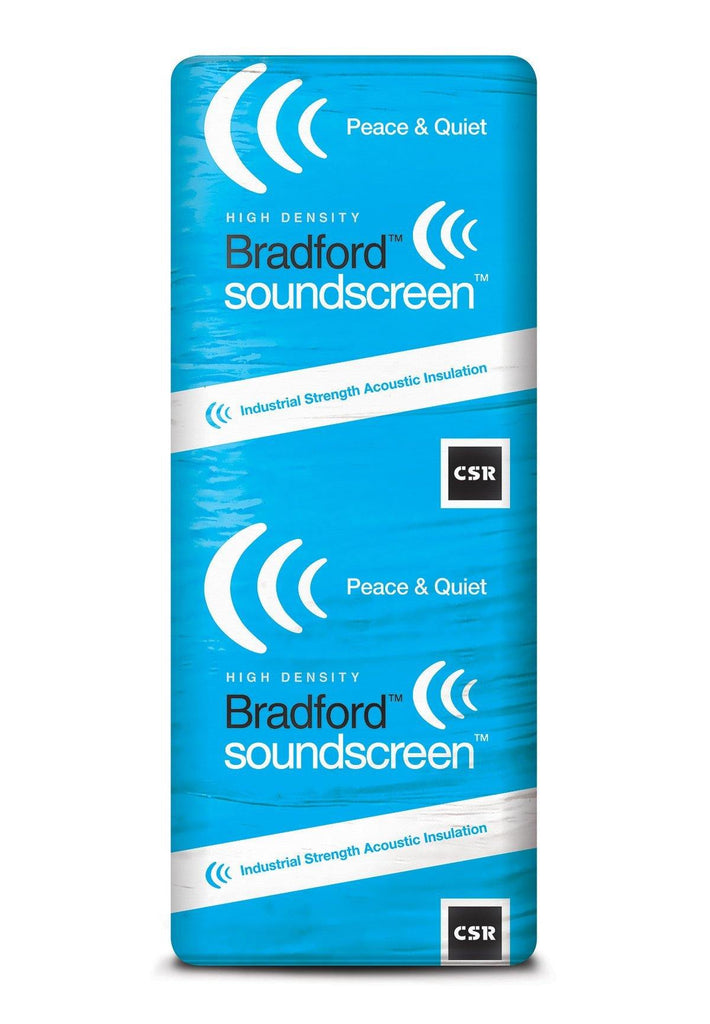 Bradford SoundScreen Acoustic Wall Insulation Batts - R1.7 - 1160 x 580mm - 7.4m²/pack - Insulfix