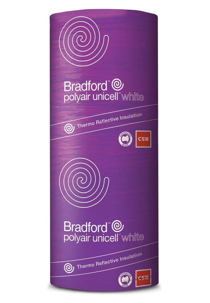 Bradford Polyair Unicell White Shed Insulation - 1350mm x 40m - 54m²/pack - Insulfix