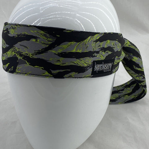 Grey and Lime Tiger Headband *LE5
