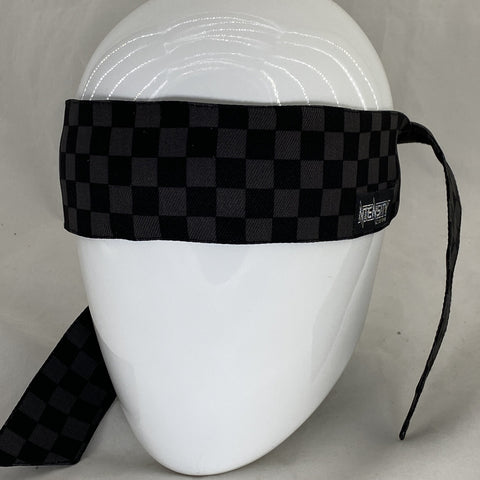 Black Check Headband