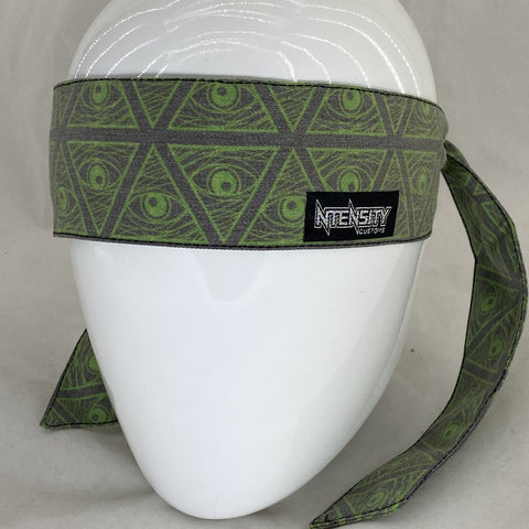 """Vintage"" Lime Illuminati Headband"
