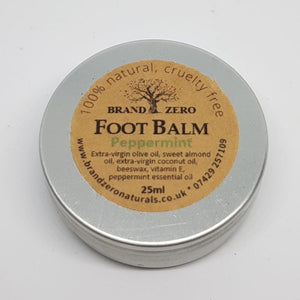 Peppermint foot balm soothing refreshing footcare