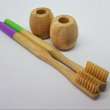 Load image into Gallery viewer, Bamboo toothbrush holder