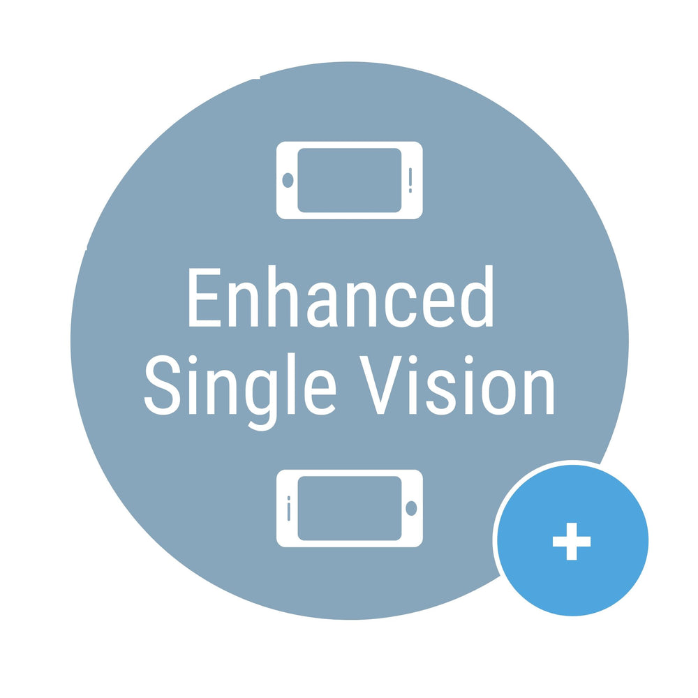 Enhanced Single Vision Lenses with Blue Light Filter