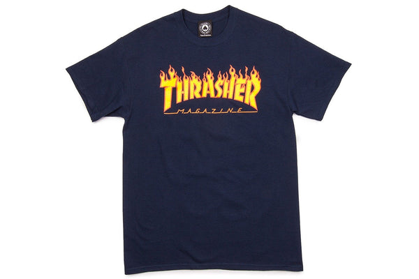 Flame Logo T-Shirt - Navy Blue