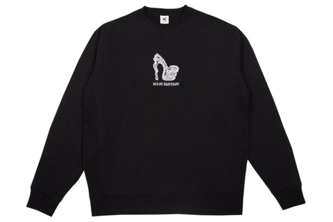 Wordmark Crew - Pigment Black/Black/White