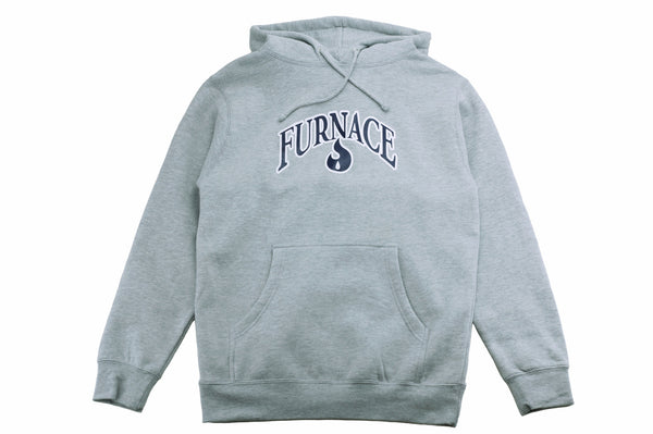 Furnace OG Hoodie - Grey Heather/Navy/White