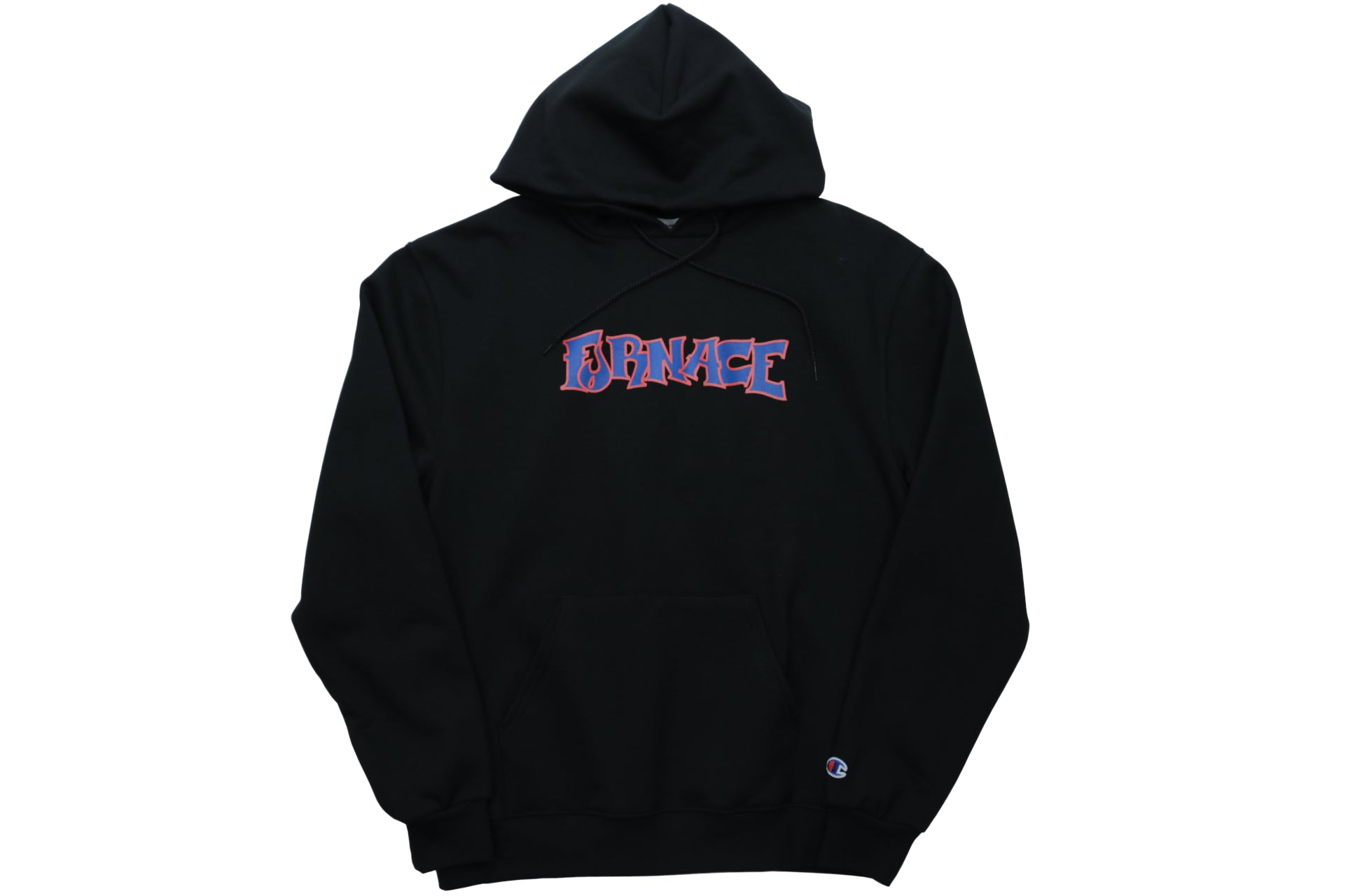 Wordmark Hood (Champion) - Black/Burnt Orange/Blue