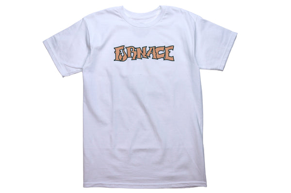 Wordmark Tee - White/Apricot/Green