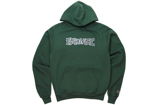 Wordmark Hood (Champion) - Forest/Black/White
