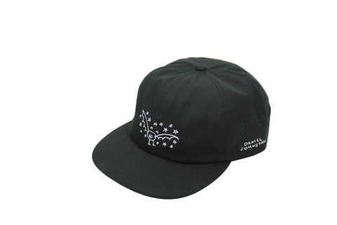 Earth Logo Emb. Twill 6 Panel  - Garment Dyed Black