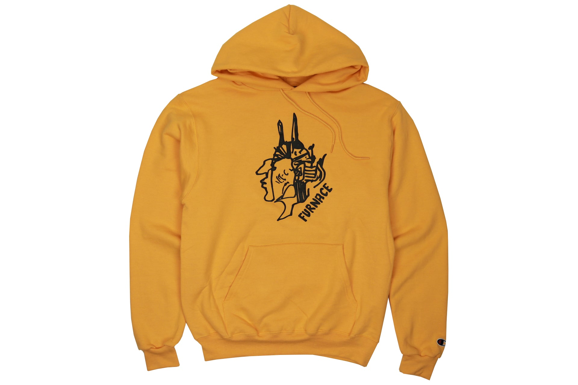 Gonz For Furnace Hoodie - Gold/Black Puff