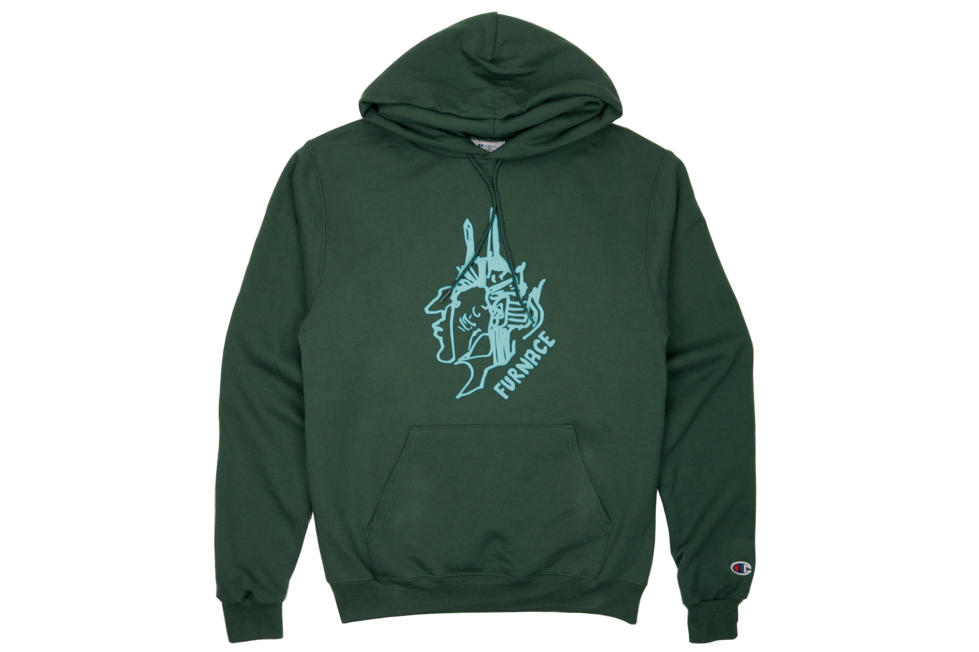 Gonz For Furnace Hoodie - Dark Green/Sky Puff
