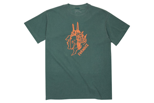 Gonz For Furnace Tee - Garment Dyed Pacific Green/Orange