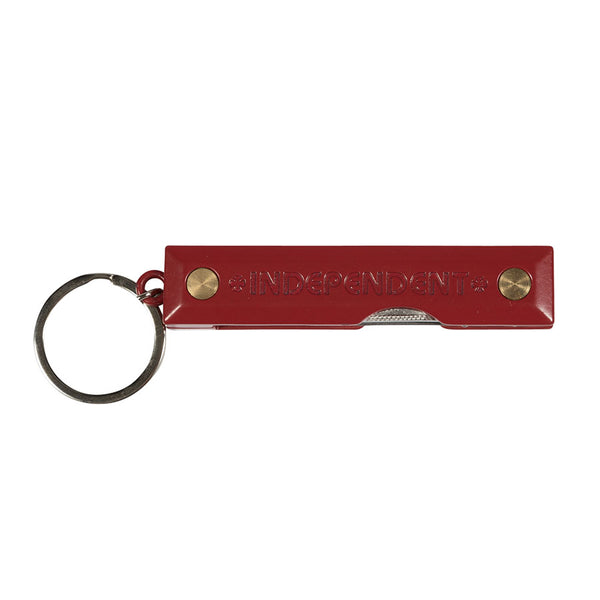 Red Curb Key Chain