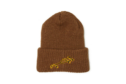 Striped Beanie - Cream