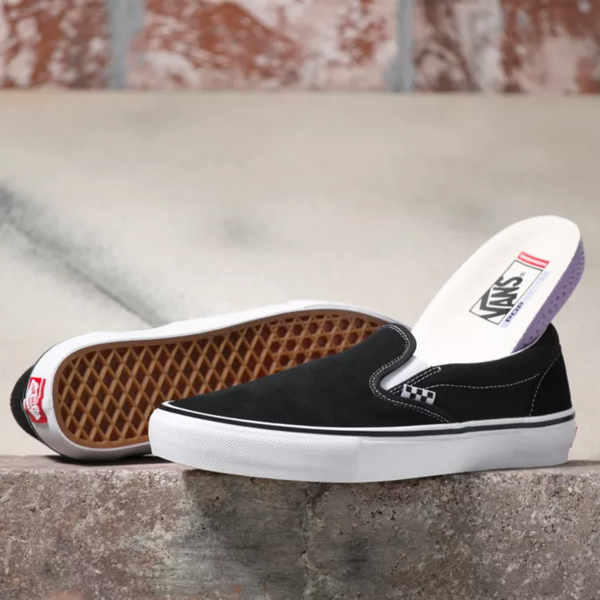 Skate Slip-On - Black/White
