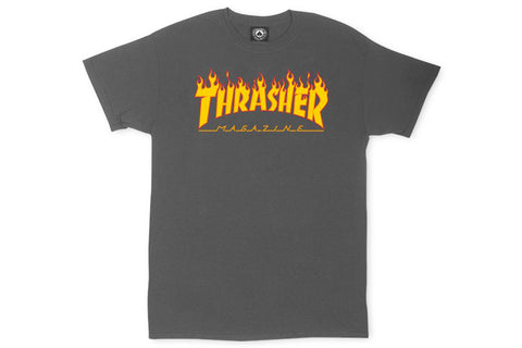 Flame Logo T-Shirt - Gray Charcoal