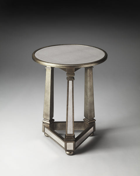Emile Mirrored End Table