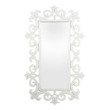 Anna White Glass Mirror