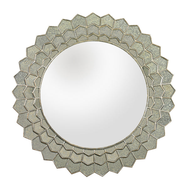 Adalé Antiqued Sunflower Mirror