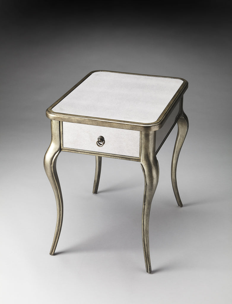 Teague Mirrored Side Table