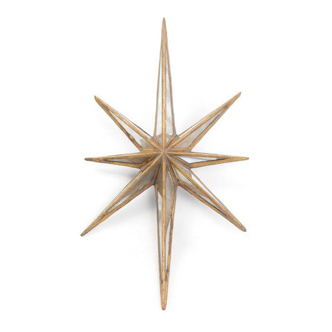 Antique Gold Mirror Star