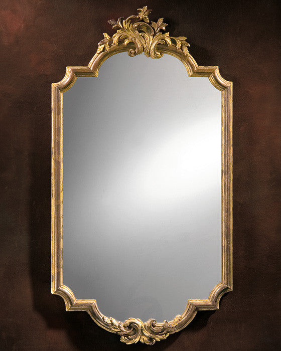 Baroque Silver Leaf Mirror