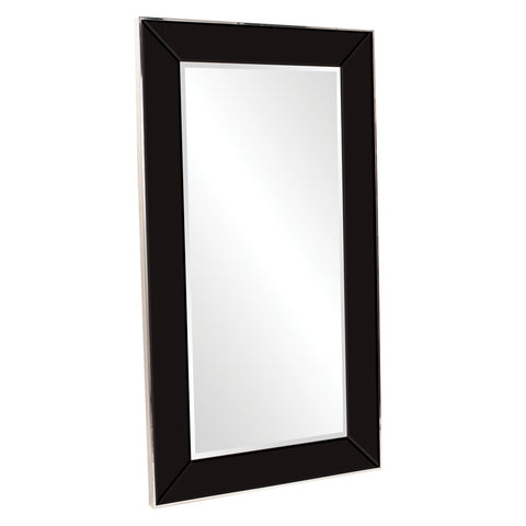 Mariah Black Glass Mirror