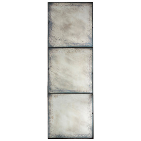 Aidan Large 3 Panel Antiqued Mirror